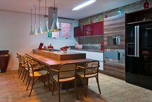 Cozinhas e salas de jantar Interfloor / Pisos Interfloor instalados em cozinhas e salas de jantar. #pisosqueencantam #pisosvinílicos #pisosPVC