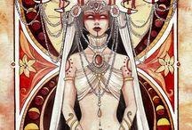 Divine Feminine / watercolours