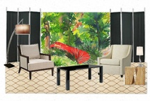 Get in the Mood Boards / Conceptual Rooms with Casart reusable wallcoverings / by Casart Coverings
