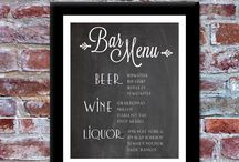 drink menu / typography