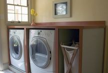 Laundry room ideas / Folding space and storage a must!