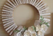Clothes Pin Wreaths