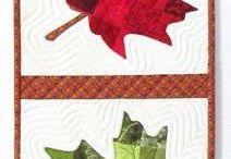 tableau  patchwork  feuilles de vignes