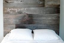 Hoofdeind bed / Ruwe planken