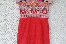 Kombinasi batik / tenun