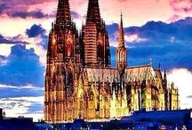 Cologne, Germany / Cologne Cathedral, Germany. It's a majestic temple, with towers reaching 157 meters. They once gave him the title of the highest building in the world. https://e-globaltravel.com