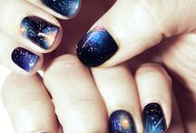 Nails - Galaxy & Gradient / Galaxies, gradients, glitter gradients, ombré, sunsets, watermarbling & dry watermarbling.