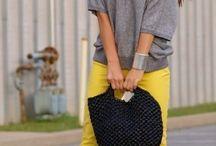 Looks inspiração - cinza com amarelo