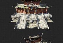 동양풍 3D 건물