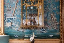 "Chinoiserie / Mural Painting in ""Chinese Style"", also known as Chinoiserie"