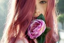 Warm pink hair