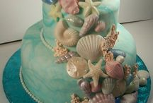 Mermaid Party Food Ideas / Mermaid cakes, cupcakes and ideas for your party, baby shower, wedding or ocean, beach theme event.