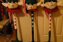 Palas decoradas, Navidad
