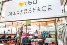 USQ Makerspace / The USQ Makerspace is a community space for all students and staff to come together to make and create. To contribute to this board please email makerspace@usq.edu.au with your name, email and student number (if you are a student).