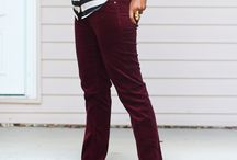 Mustard vs Burgundy Outfit