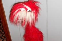 Fuzzy bird marionette