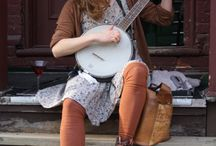 woman with musical instrument - photography