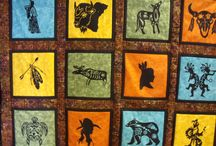Native American Silhouettes / Get precut Native American Silhouettes to make this gorgeous quilt.  All you would need to do is iron the silhouettes on to your fabric and stitch to secure.  Doesn't get easier than that, unless you have someone else sew it for you.  Available at www.appliquesquiltsandmore.com