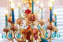 Kiriosities Art & Design / Mirrors, chandeliers, interior design, Christmas decor, beach house decor, found object art by Kirstin Mayberry for Kiriosities. www.facebook.com/kiriosities & www.kiriosities.com