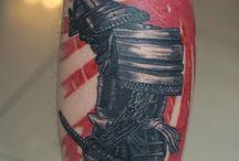 Szamuráj tattoo