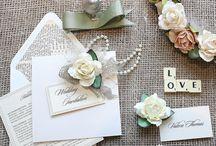Shabby Chic Wedding / Shabby chic wedding invitations with themes like vintage travel wedding or love is the key.