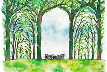 Movie Illustration / a watercolor illustration from the movie The Secret of Kells