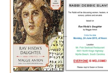 Jewish Grand Strand Reads 2013 / We will be meeting at Mr. Fish in Myrtle Beach on June 24th at 12 PM to discuss Rav Hisda's Daughter w/Rabbi Debbie