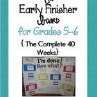 Early Finish -Elementary