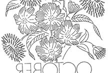STATE/MONTH FLOWERS EMBROIDERY PATTERNS / by Serafina C