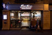 Red Dog American Sandwiches / Red Dog American Sandwiches is a new concept behind it's big brother Red Dog Saloon.  Restaurant interior design, by DesignLSM