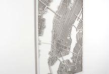 3D Stadtpläne / 3D City Maps / 3D Wanddeko