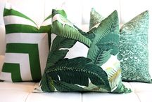 Pillow stripes green