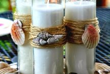 Beach candle vessels