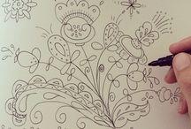 Doodling and drawing / Tekenen