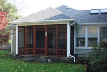 Decks and Sunrooms by Construct Associates / We believe outdoor living should be as comfortable and inviting as your indoor living space. We have designed and built a variety of screened porches, three season rooms, greenhouses, decks and terraces, and everything in between for all budget levels.