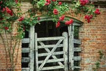 """Doors, Windows, Gates & Arbors / Always inviting. (Jesus says) """"I am the door; if anyone enters through Me, he will be saved, and will go in and out and find pasture."""" John 10:9"""