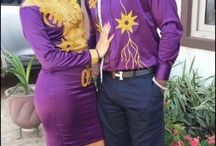 couples in African print