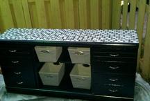 DIY - Glass Tile on Dresser Top / by Jennifer Lynn