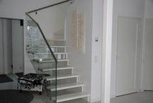 Lasikaide portaat / Modernia lasikaiteellista