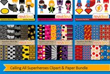 Superhero clipart for craft and classroom / Superhero clipart for craft and classroom