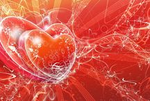 Love Heart In Red Background Wallpaper Download   Famous HD Wallpaper