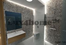 Standing Pebble / Pebble Tiles & Pebble Borders on Walls. Lux4home™