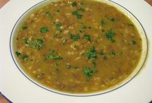 Vegan soups. / Meatless and dairy free soups.