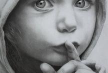Pencil,Charcoal