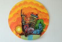 SKRETA_YIOTA - CITIES / handmade decorative items  made of wood, clay and metal