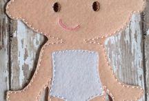 кукла с одеждой фетр
