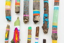 Stick Art / Ideas and inspiration for creating your own spirit stick or as an art therapy prompt.
