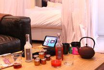 Mi Hotel aime les bonnes choses, à boire, à manger .... / Des produits de qualité, choisis et présentés, à disposition dans les suites ... Lyon, capitale de la gastronomie oblige.