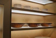 eluma LED Shelving / eluma LED shelving is illuminated glass shelving which illuminates above, below and within shelf itself.