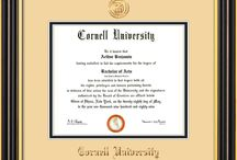Cornell University Diploma Frames & Graduation Gifts! / Official CU Diploma frames. Exquisitely crafted to exacting specifications for the CU diploma. Custom framed using hardwood mouldings and all archival materials, including UV glass to prevent fading from sunlight AND indoor incandescent lighting! Each frame exceeds Library of Congress standards for document preservation and includes a 100% lifetime guarantee, ensuring that a hard-earned achievement will be honored and protected for generations. Makes a thoughtful and unique graduation gift!